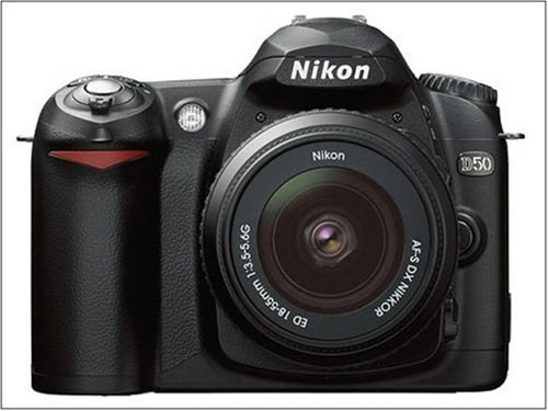 Nikon D50 Digital SLR Camera Kit Black includes AF-S Zoom Nikon 18-55mm Lens [6MP]