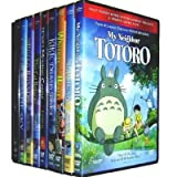 Miyazaki 13 Pack (Castle in the Sky/Kiki's Delivery Service/Nausicaa of the Valley of the Wind/Grave of the Fireflies/Porco Rosso/Princess Mononoke/Spirited Away/The Cat Returns/Howl's Moving Castle/My Neighbor Totoro/My Neighbors the Yamadas/Pom Poko/Whisper of the Heart)