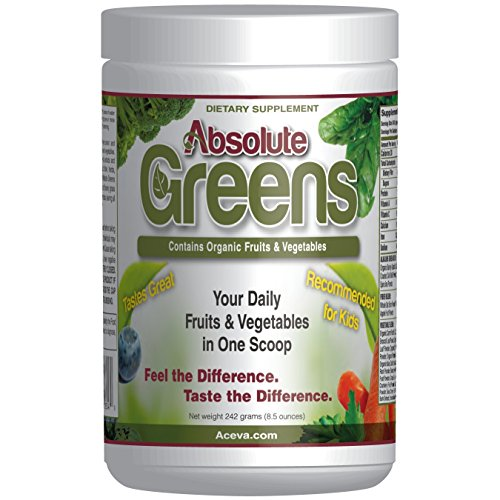 Absolute Greens -242 grams- A GUARANTEED DELICIOUS way of providing the antioxidant power of over 10 servings of fruits & vegetables in every scoop! (Daikon Radish Extract compare prices)