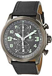 """Victorinox Men's 241526 """"Infantry"""" Stainless Steel Automatic Watch with Grey Leather Band"""