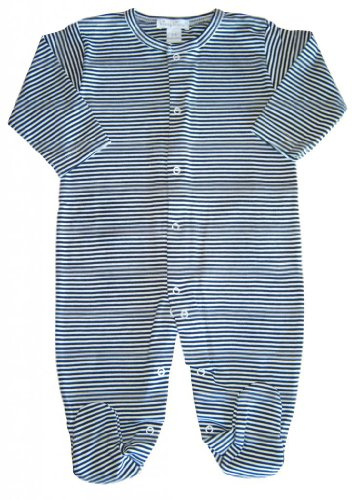 Kissy Kissy Baby Boys' Stripe Footie (Baby) - Navy - 0-3 Months back-220962