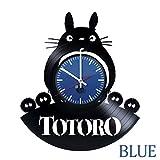 スタジオジブリ My Neighbor Totoro Vinyl Wall Clock - Get unique kitchen wall decor - Gift ideas for teens, baby– Funny Anime Film Unique Art Design - Leave us a feedback and win your custom clock
