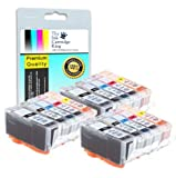 Odyssey Supplies 15 Canon Compatible Ink Cartridges for canon pixma iP7250, MG5450, MG6350, MX925, CLI-551 / PGI-550