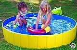 Falt Planschbecken Kinderpool Babypool Faltbar Wasserspaß Wasserspiel Abdeckplane