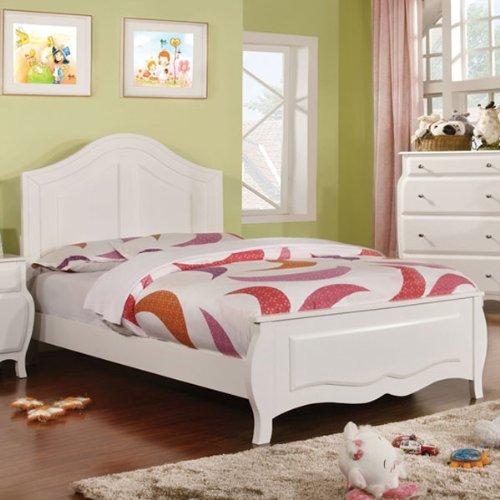 Roxana White Finish Youth Full Size Bedroom Frame Set front-1054005