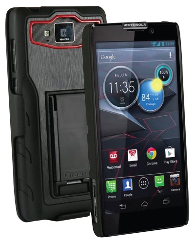 Qmadix Holster Shell Combo for Motorola Droid Maxx Holder - Retail Packaging - Black/Red