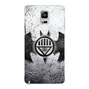 Stylish Black Knight Shade Back Case Cover for Galaxy Note 4