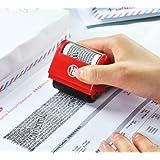 Identitätsschutz, selbstfärbender Datenschutz-Rollstempel, versteckt/überschreibt Informationen Stempel