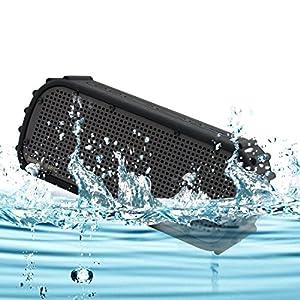 Waterproof Bluetooth Speaker,Maxace IPX7 Wireless Bluetooth Shockproof Waterproof Outdoor Speaker ,12 hours Play time