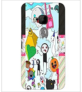 PrintDhaba Graffiti D-4975 Back Case Cover for HTC ONE M9 (Multi-Coloured)