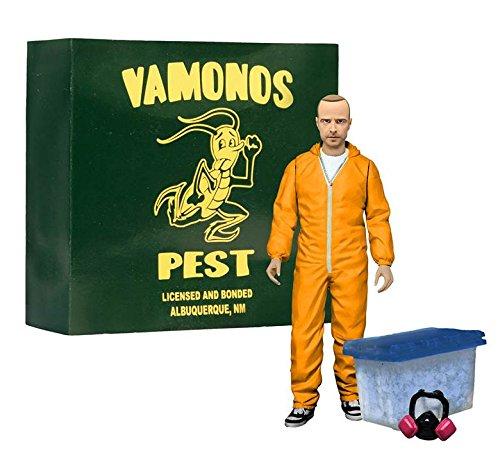 """Breaking Bad Jesse Pinkman 6"""" Action Figure - Orange Hazmat Suit EE Exclusive."""