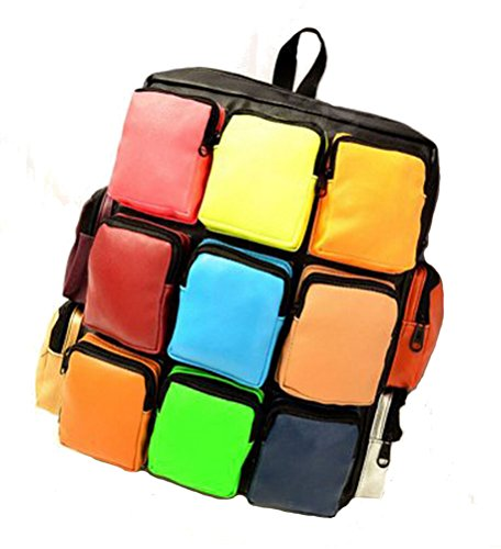 Bromeo Girls Rubik's Cubes Backpack School Bag - will fit 14 inch laptop/tablet