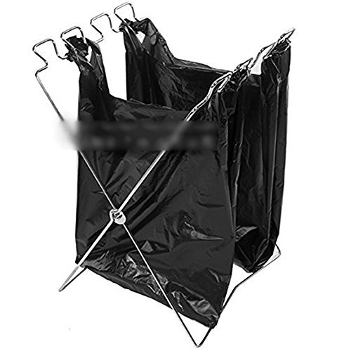 【屋外 での ゴミ袋 の固定 ゴミ袋ラック】 折りたたみ 持ち運び 楽々 ポータブル キャンプ レジャー アウトドア
