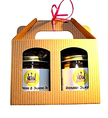 HEKN Gourmet 2-Flavor Jalapenos Jam Gift Set (Raspberry Jalapeno Jam and Sweet pepper Jalapeno Jam), All natural and No preservatives by HEKN Gourmet