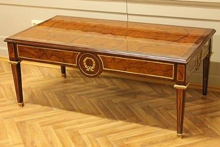 Mesa de centro de mesa de café de estilo barroco y rococó estilo envejecido Luis XV MoTa0664