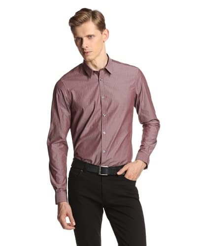 Ben Sherman Men's Long Sleeve Shirt Mini Spear Point Collar Shirt