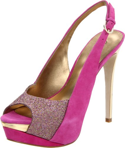 Guess Billow Womens, Pink Multi Suede, 9 USA, B