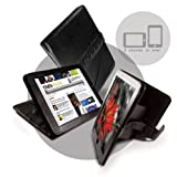 Tuff-Luv Bi-Axis Napa Leather Case Cover for Apple iPad - Blackby Tuff-Luv