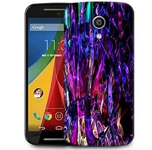 Snoogg Abstract Multicolor Design Designer Protective Phone Back Case Cover For Motorola G 2nd Genration / Moto G 2nd Gen