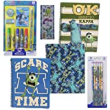 Disney Pixar Monster University Stationary School Supply Gift Set - 3 Monsters U Notebooks, 1 Monsters U 9-piece Stationary Set, 1 6-pack #2 Wood Pencils Plus Bonus Roll of Monsters U Stickers