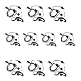 Tenq 10pack Earpiece Headset Mic for Baofeng Uv-5r 666s 777s 888s Two-way Radio