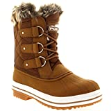 Womens Snow Boot Nylon Short Fur Rain Winter Waterproof Snow Warm Boots - Tan - 8 - 39 - CD0033