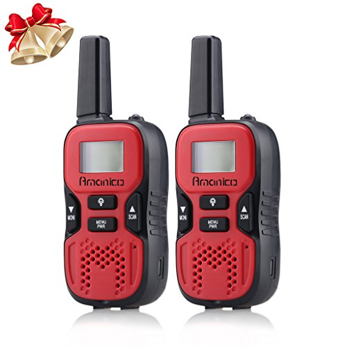 Amanico-Kids-Walkie-Talkies-22-Channel-FRSGMRS-2-Way-Radio-2-miles-up-to-37-Miles-UHF-Handheld-Walkie-Talkies-for-Kids-Children-Teens-Games-Travel-1-Pair-Red