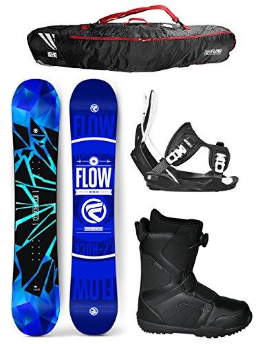 Flow 2017 Burst Men's Complete Snowboard Package Flow Bindings Flow BOA Boots BAG - Board Size 154 (Boot Size 10) (Flow Snowboard Packages Mens compare prices)