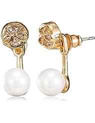 Pout Out Stud Earrings For Women (Golden) (EAR-STUD-321 GLD)