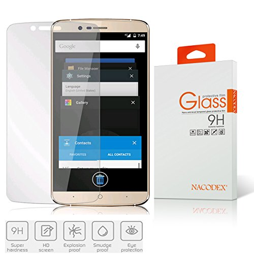 Nacodex® Premium Real Tempered Glass Film For Elephone P8000 , HD Ballistic Glass Screen Protector – Protect Your Screen From Scratches
