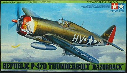 Tamiya 1:48 Republic P-47D Thunderbolt Razorback Plastic Model Kit #61086