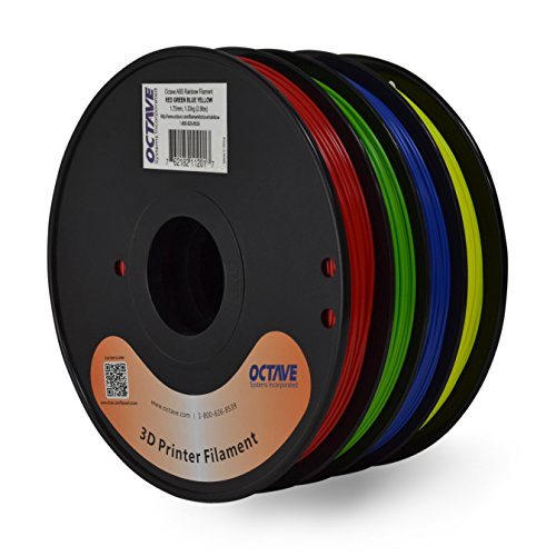 Octave-4-Color-Red-Green-Blue-Yellow-ABS-Filament-for-3D-Printers-175mm-13Kg-Spool