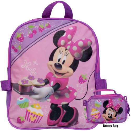 Minnie Mouse - Cupcake Collage Small Backpack With Detachable Utility Case front-1067279