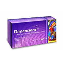"Aurelia Dimensions 6992 Latex Glove, Powder Free, 9.4"" Length, 5 mils Thick"