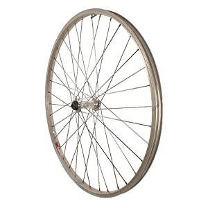 Sta-Tru Silver Alloy ATB Hub Quick Release Front Wheel (26X1.5-Inch) by Sta Tru