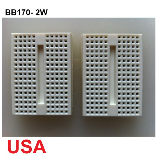 UDIYKITS. 2pcs WHITE MINI BB170 TIE POINTS SOLDERLESS BREADBOARD FOR ARDUINO - 1