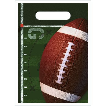 Football Party Favor Goody Bags - Football Treat Sacks - 8 Count