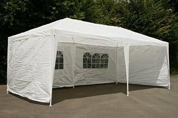 campfeuer pavillion partyzelt 3x6m wei mit allen seitenteilen komplett verschliessbar dc93. Black Bedroom Furniture Sets. Home Design Ideas