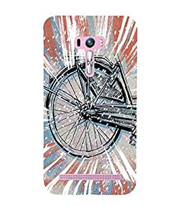 Stylish cycle Back Case Cover for Asus Zenfone Selfie::Asus Zenfone Selfie ZD551KL