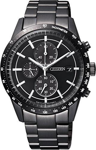 [シチズン]CITIZEN 腕時計 CITIZEN-Collection シチズンコレクション Eco-Drive エコ・ドライブ メタルフェイス 日本製 オールブラックモデル CA0455-53E メンズ