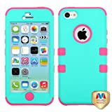 Product B00GZBP7HO - Product title MyBat iPhone 5C TUFF Hybrid Phone Protector Cover - Retail Packaging - Teal/Pink