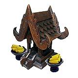 Thai Buddhist Spirit House Buddha Altar Temple Haunted House Teak Craft Size 5 Inches Height Miniature