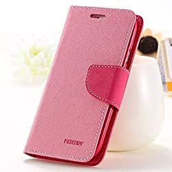 Pikimania Mercury Goospery Fancy Diary Wallet Case Cover for YU Yuphoria YU5010 (Baby Pink)
