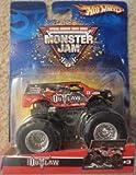 2006 Hot Wheels (�ۥåȥ�������) Monster Jam Iron Outlaw Red/Black #3 Metal Base ...