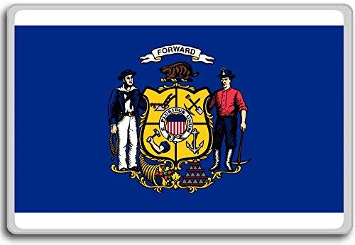 Flag Of Wisconsin (1913-1981) - Flags of the U.S. states fridge magnet - Calamita da frigo