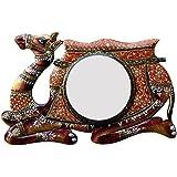 Divraya Wood Camel Wall Mirror (45.72 Cm X 4 Cm X 30.48 Cm, DA120)
