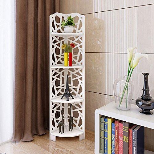 ALightUp ALightUp Bathroom Waterproof Bathroom 120° Modular Corner Radius Cube Storage Unit 4 Tier Corner Shelves (Qing)