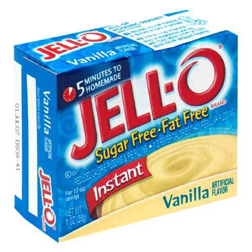 Buy Jell-O Sugar-Free Instant Pudding & Pie Filling, Vanilla, 1-Ounce Boxes (Pack of 24) (JELL-O, Health & Personal Care, Products, Food & Snacks, Baking Supplies, Pie & Cobbler Fillings)
