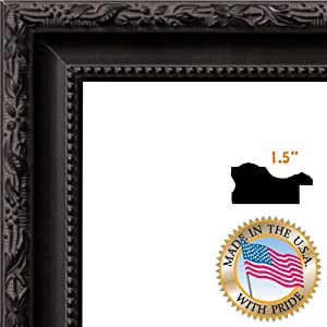 art to frames 1womm330714 24x30 24 by 30 inch picture frame wide black. Black Bedroom Furniture Sets. Home Design Ideas