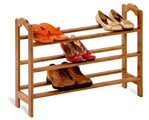 Click Here For great Size Honey-Can-Do 3-Tier Bamboo Shoe Rack
